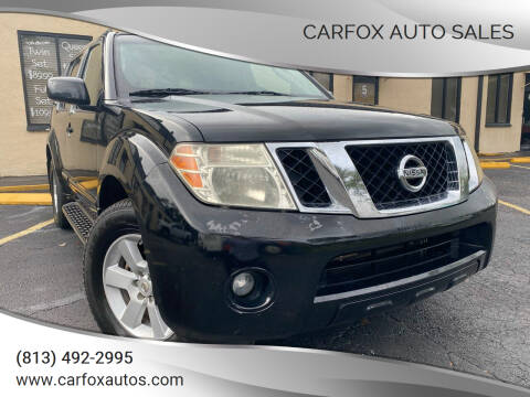 2011 Nissan Pathfinder for sale at Carfox Auto Sales in Tampa FL
