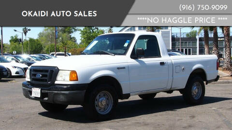2005 Ford Ranger for sale at Okaidi Auto Sales in Sacramento CA