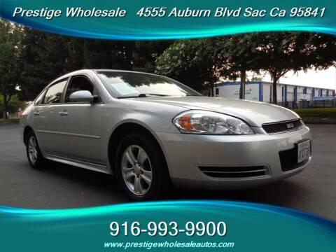2013 Chevrolet Impala for sale at Prestige Wholesale in Sacramento CA