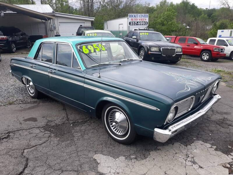 1966 Plymouth Valiant for sale at Rocket Center Auto Sales in Mount Carmel TN