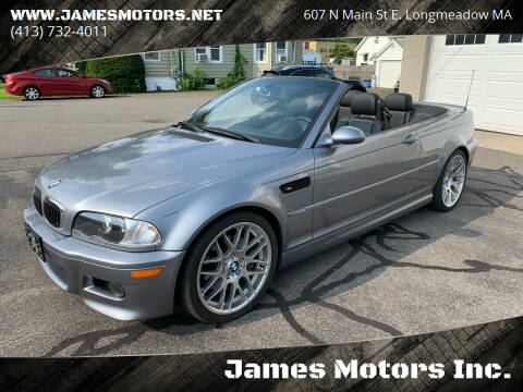 2006 BMW M3 for sale at James Motors Inc. in East Longmeadow MA