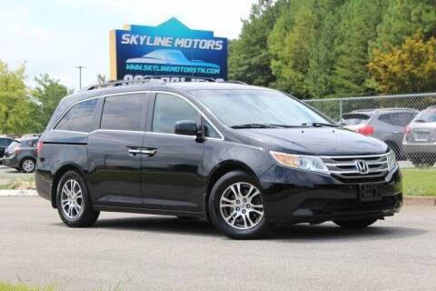 2012 Honda Odyssey for sale at Skyline Motors in Louisville TN