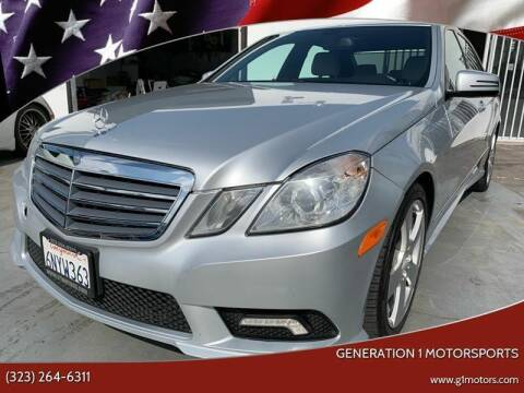 2011 Mercedes-Benz E-Class for sale at GENERATION 1 MOTORSPORTS #1 in Los Angeles CA