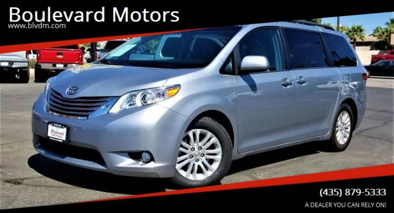 2015 Toyota Sienna for sale at Boulevard Motors in St George UT