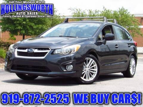 2012 Subaru Impreza for sale at Hollingsworth Auto Sales in Raleigh NC