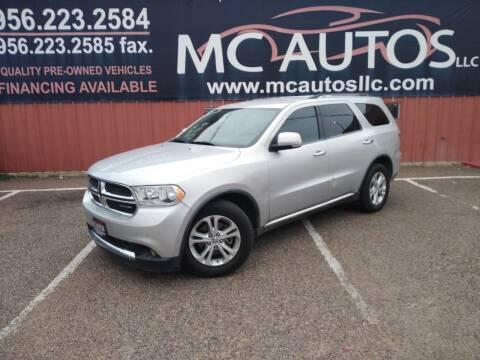 2012 Dodge Durango for sale at MC Autos LLC in Pharr TX