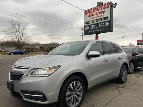 2014 Acura MDX for sale at Unlimited Auto Group in West Chester OH