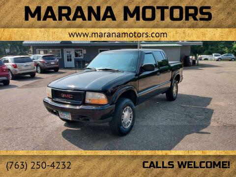 2001 GMC Sonoma for sale at Marana Motors in Princeton MN