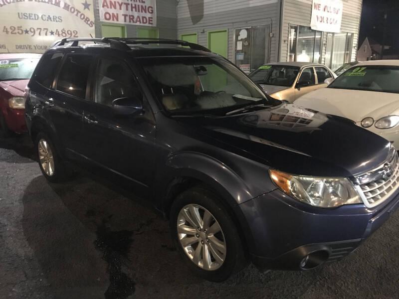 2012 Subaru Forester for sale at American Dream Motors in Everett WA