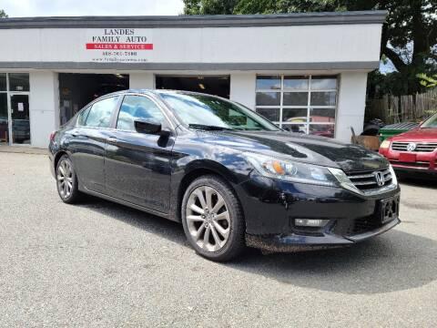 2015 Honda Accord for sale at Landes Family Auto Sales in Attleboro MA