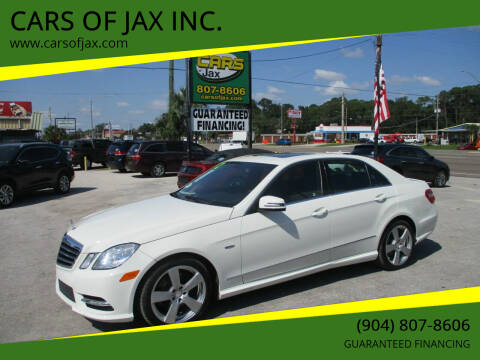 2012 Mercedes-Benz E-Class for sale at CARS OF JAX INC. in Jacksonville FL