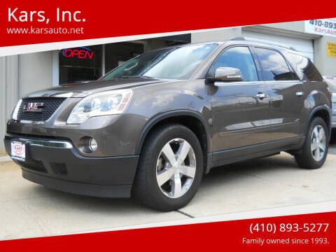 2012 GMC Acadia for sale at Kars, Inc. in Fallston MD