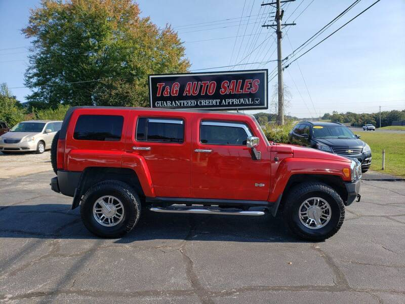 2008 HUMMER H3 for sale at T & G Auto Sales in Florence AL
