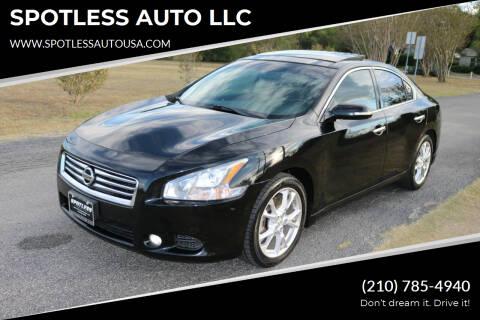 2014 Nissan Maxima for sale at SPOTLESS AUTO LLC in San Antonio TX