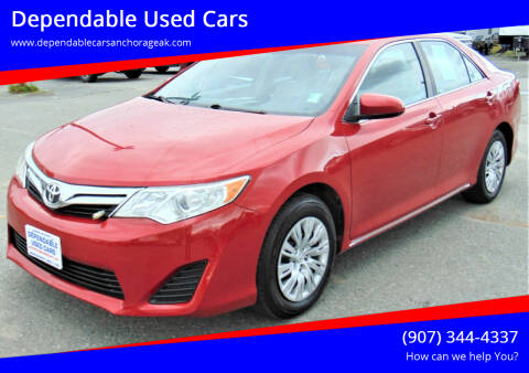 2012 Toyota Camry for sale at Dependable Used Cars in Anchorage AK