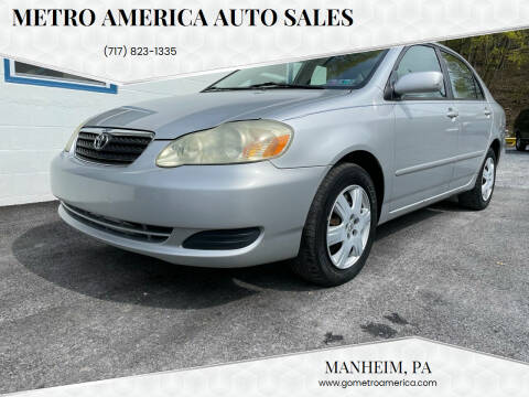 2005 Toyota Corolla for sale at METRO AMERICA AUTO SALES of Manheim in Manheim PA