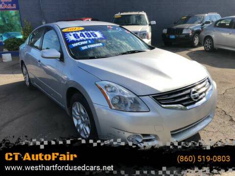 2012 Nissan Altima for sale at CT AutoFair in West Hartford CT