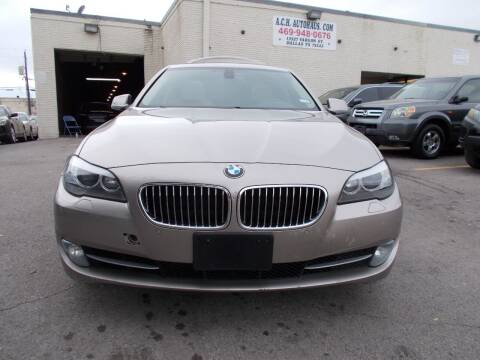 2012 BMW 5 Series for sale at ACH AutoHaus in Dallas TX