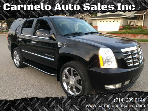 2007 Cadillac Escalade for sale at Carmelo Auto Sales Inc in Orange CA