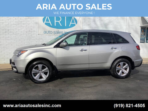 2012 Acura MDX for sale at ARIA  AUTO  SALES in Raleigh NC