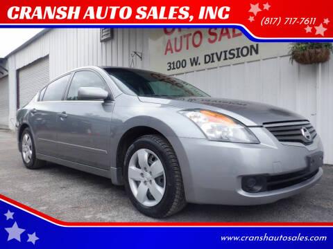 2008 Nissan Altima for sale at CRANSH AUTO SALES, INC in Arlington TX