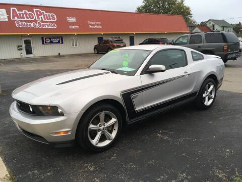 2010 Ford Mustang for sale at AUTO PLUS INC in Marinette WI
