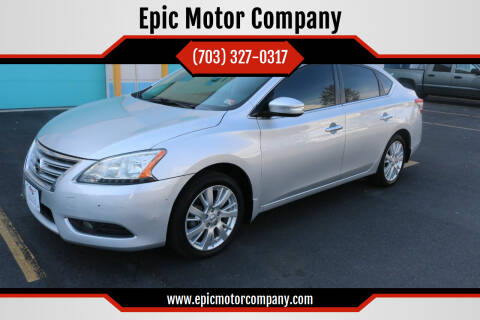 2015 Nissan Sentra for sale at Epic Motor Company in Chantilly VA