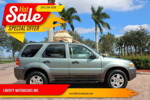 2006 Ford Escape for sale at LIBERTY MOTORCARS INC in Royal Palm Beach FL