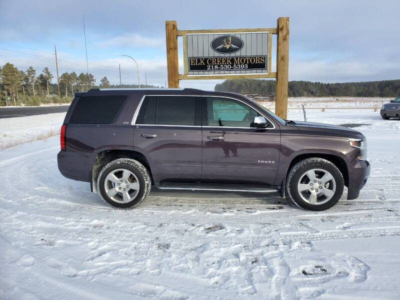 2015 Chevrolet Tahoe for sale at Elk Creek Motors LLC in Park Rapids MN