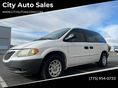 2002 Chrysler Voyager for sale at City Auto Sales in Sparks NV