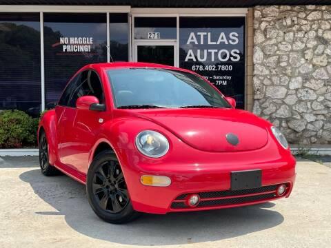 2002 Volkswagen New Beetle for sale at ATLAS AUTOS in Marietta GA