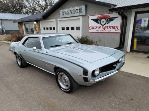 1969 Chevrolet Camaro for sale at CRUZ'N MOTORS - Classics in Spirit Lake IA