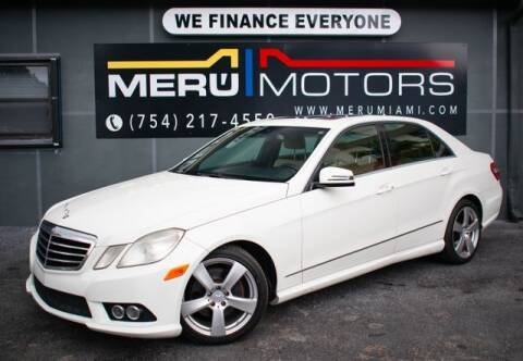 2010 Mercedes-Benz E-Class for sale at Meru Motors in Hollywood FL