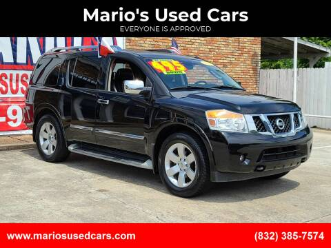 2012 Nissan Armada for sale at Mario's Used Cars - South Houston Location in South Houston TX