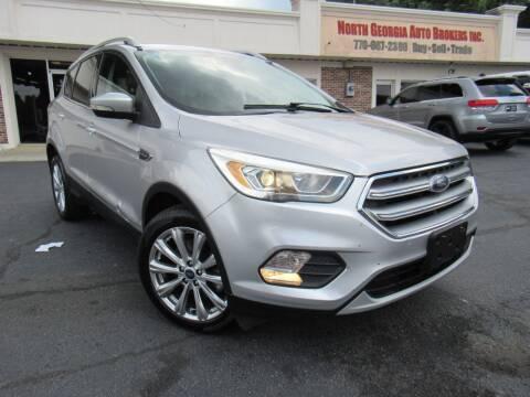 2017 Ford Escape for sale at North Georgia Auto Brokers in Snellville GA
