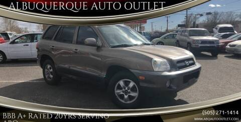 2005 Hyundai Santa Fe for sale at ALBUQUERQUE AUTO OUTLET in Albuquerque NM