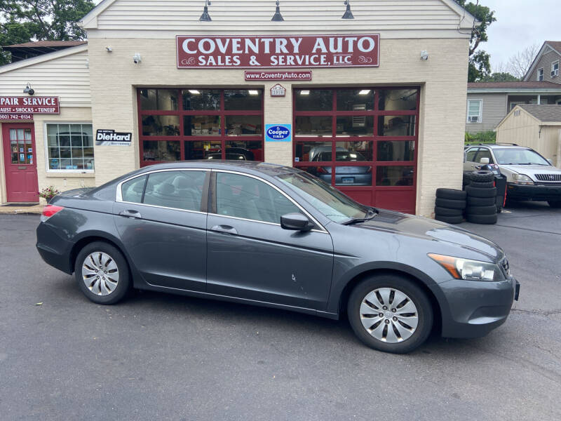 2008 Honda Accord for sale at COVENTRY AUTO SALES in Coventry CT