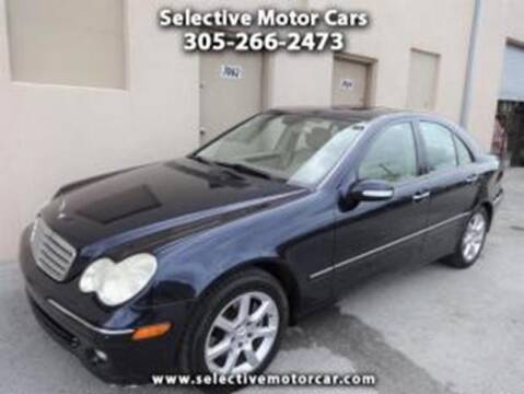 2007 Mercedes-Benz C-Class for sale at Selective Motor Cars in Miami FL