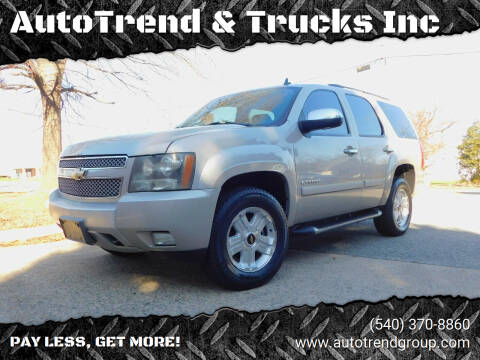 2008 Chevrolet Tahoe for sale at AutoTrend & Trucks Inc in Fredericksburg VA
