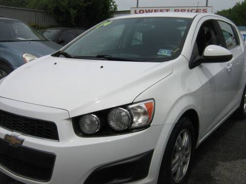 2014 Chevrolet Sonic for sale at JERRY'S AUTO SALES in Staten Island NY