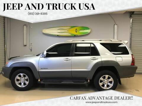2003 Toyota 4Runner for sale at Jeep and Truck USA in Tampa FL