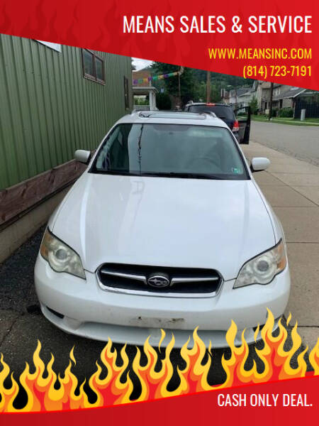 2007 Subaru Legacy for sale at MEANS SALES & SERVICE in Warren PA