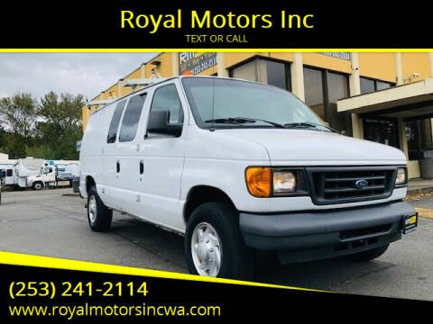 2007 Ford E-Series Cargo for sale at Royal Motors Inc in Kent WA