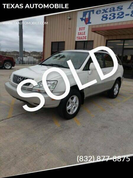2001 Lexus RX 300 for sale at TEXAS AUTOMOBILE in Houston TX