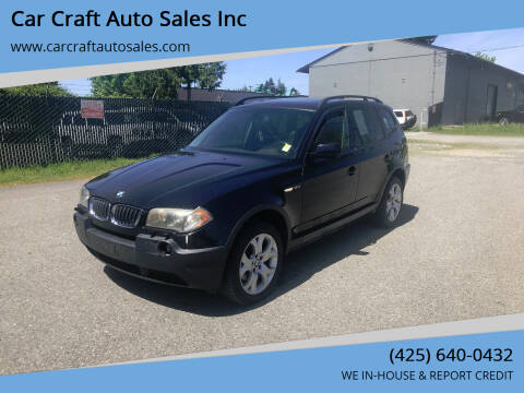 2005 BMW X3 for sale at Car Craft Auto Sales Inc in Lynnwood WA