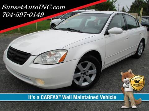 2003 Nissan Altima for sale at Sunset Auto in Charlotte NC