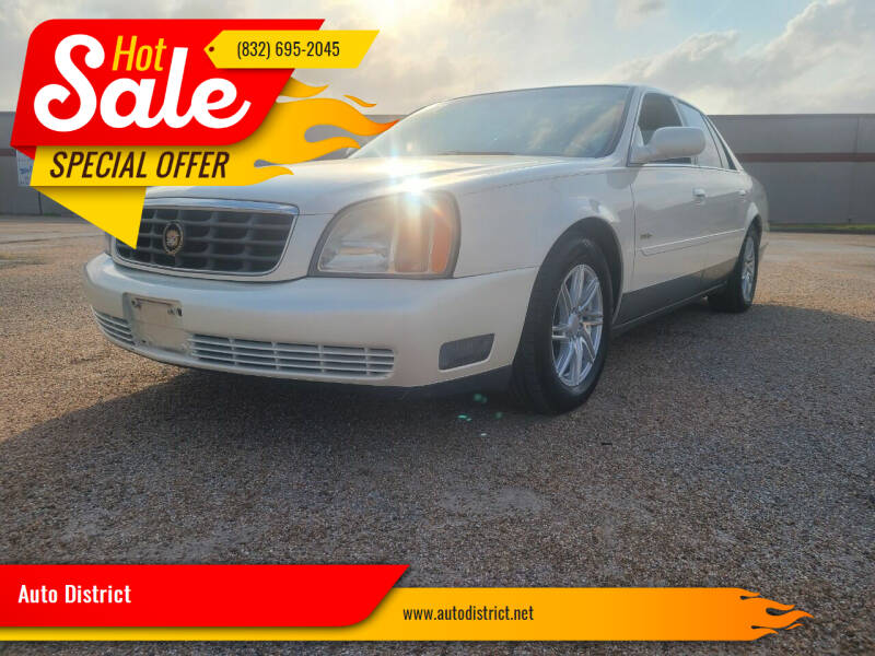 2001 Cadillac DeVille for sale at Auto District in Baytown TX