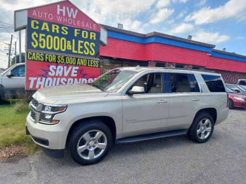 2017 Chevrolet Tahoe for sale at HW Auto Wholesale in Norfolk VA