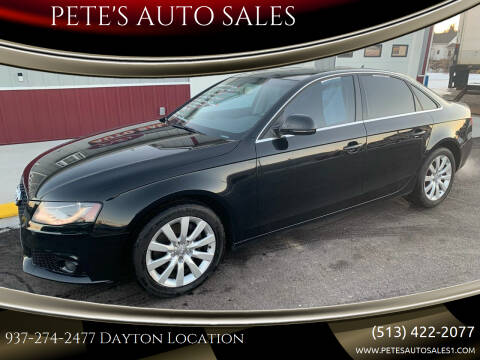 2009 Audi A4 for sale at PETE'S AUTO SALES LLC - Dayton in Dayton OH