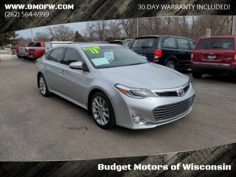 2013 Toyota Avalon for sale at Budget Motors of Wisconsin in Racine WI